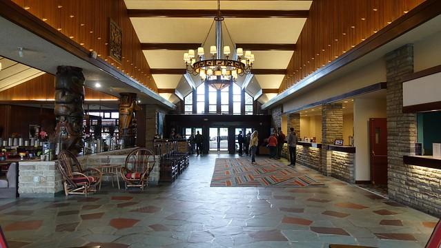 Lobby of the Jasper Park Lodge in Jasper, Alberta, Canada
