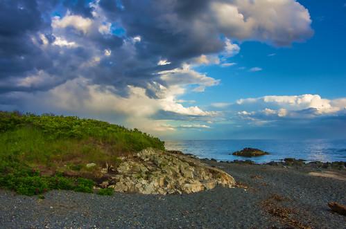kennebunk maine clouds oaksneck summer sky topaz landscape