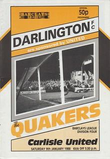 Darlington V Carlisle United 9-1-88 | by cumbriangroundhopper