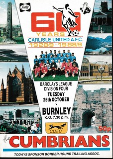 Carlisle United V Burnley 25-10-88 | by cumbriangroundhopper