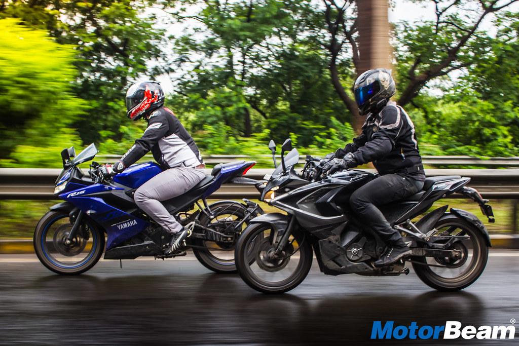 Yamaha-R15-V3-vs- Bajaj-Pulsar-RS-200-2 | Faisal A Khan | Flickr