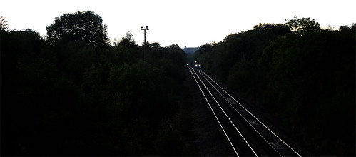 railway class66 66185 transport rails evening