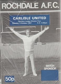 Rochdale V Carlisle United 3-10-87 | by cumbriangroundhopper