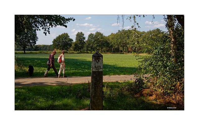 Grenzstein 413 an der Grenze NL - D