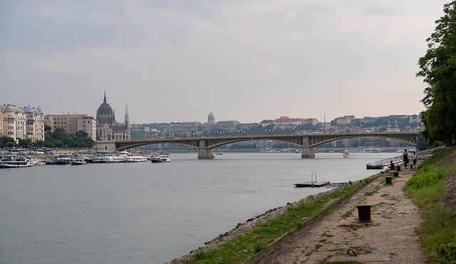 The Danube and Margaret Bridge from Margaret Island, Budapest, Hungary