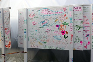 Messages on boards