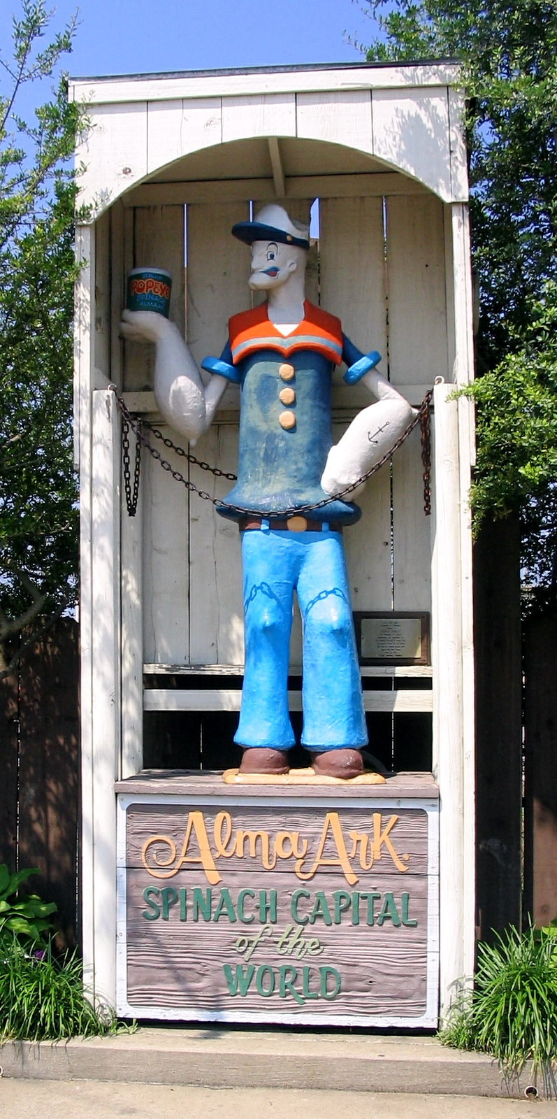 Popeye Statue in Alma, Arkansas