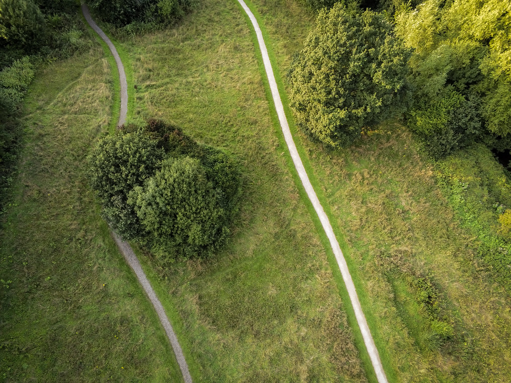 Rivacre From Above: Paths | Taken with the Parrot Anafi This