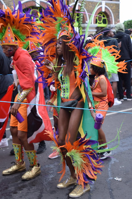 DSC_7704 Notting Hill Caribbean Carnival London Exotic Colourful Costume Girls Dancing Showgirl Performers Aug 27 2018 Stunning Ladies