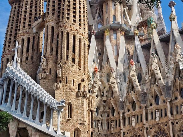 A bit of detail from Gaudi's Sagrada Familia in Barcelona.