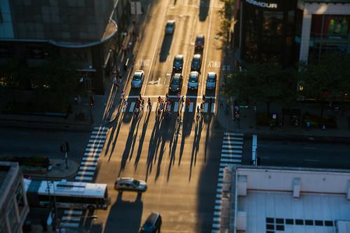 Chicago Street Crossing Tilt-Shift