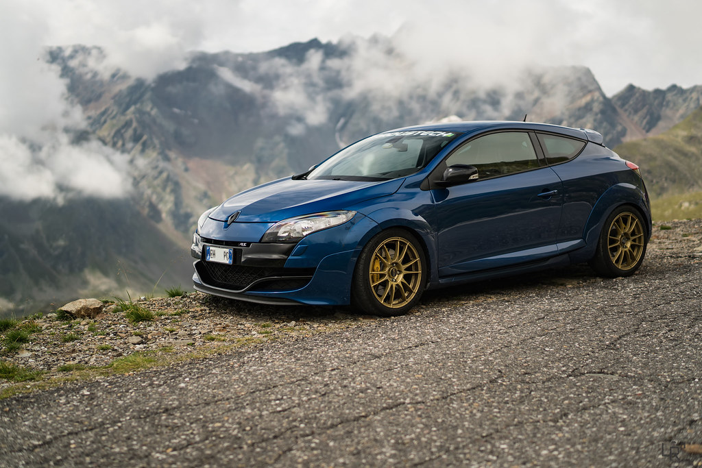Renault Megane 3 Rs Blue Extreme On Gavia Pass Italy Owne