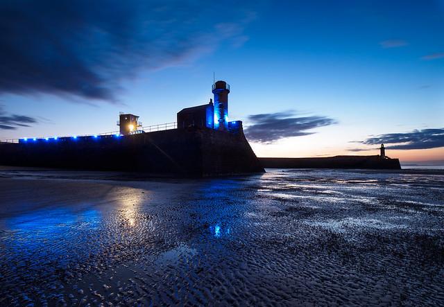 Harbour night lights