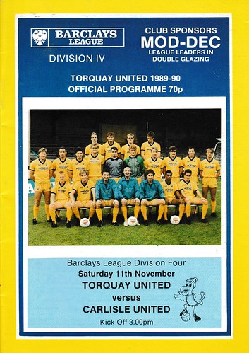 Torquay United V Carlisle United 11-11-89 | by cumbriangroundhopper