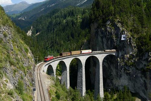 rhb rhätischebahn landwasserviadukt ge66ii