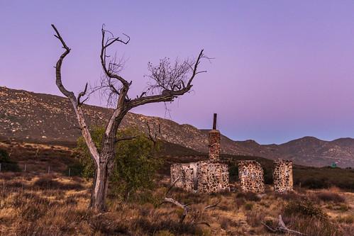 buckman sunset colorful sky california buckmansprings ruins urbex highway80
