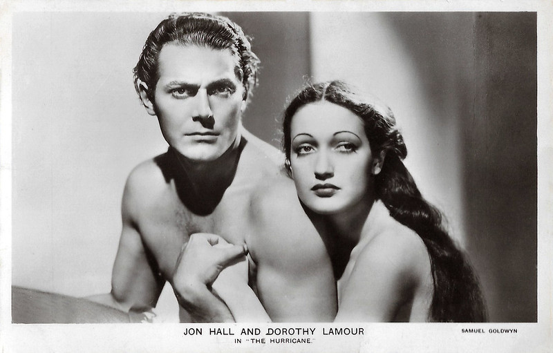 Jon Hall and Dorothy Lamour in The Hurricane (1937)