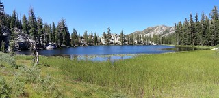 1625 Panorama view from the reedy southern end of Rubicon Lake, with Rubicon Peak on the right | by _JFR_