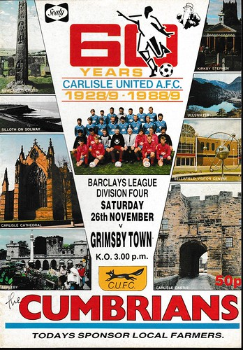 Carlisle United V Grimsby Town 26-11-88 | by cumbriangroundhopper