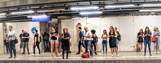 People in The Tube - London