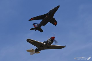 Alpha jet & P-40 | by simonschibliphotography
