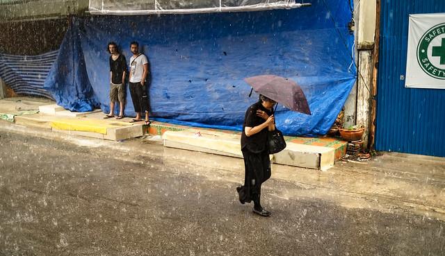 Bangkok bajo la lluvia