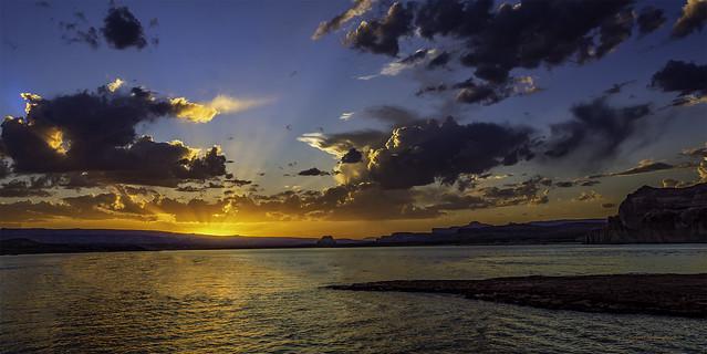 Wahweap Bay Sunset on Lake Powell
