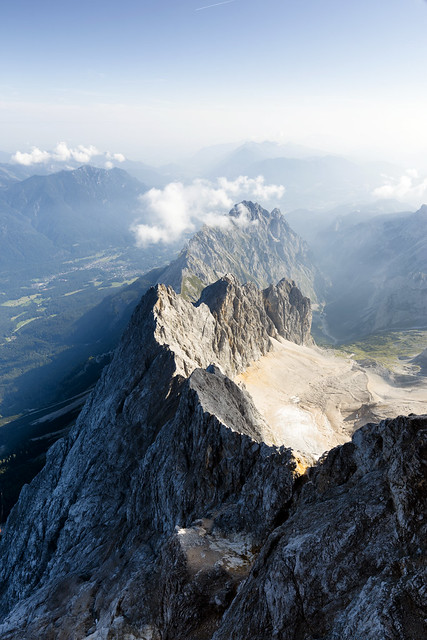 Just part of the amazing view from the Zugspitze