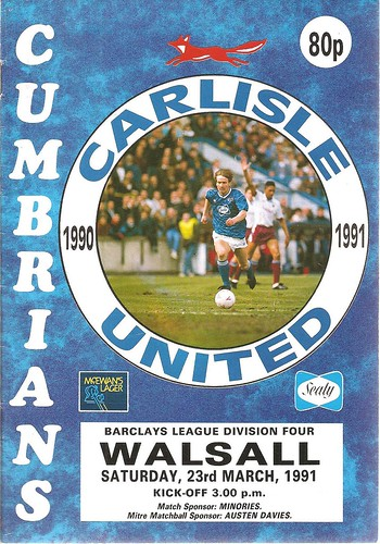 Carlisle United V Walsall 23-3-91 | by cumbriangroundhopper