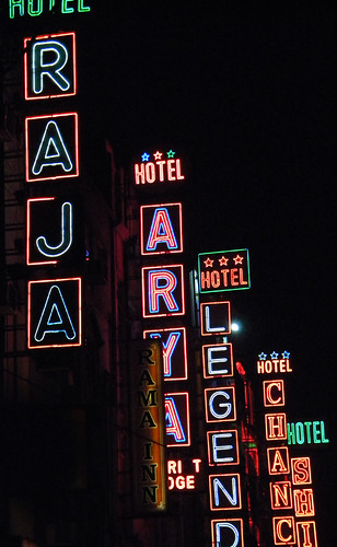 Neon signs in Delhi, India