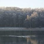 Winterlandschaft am südlichen Ufer des Baldeneysees