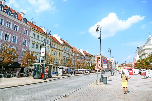 Pologne, Varsovie, la voie Royale l'avenue Krakowskie Przedmiescie
