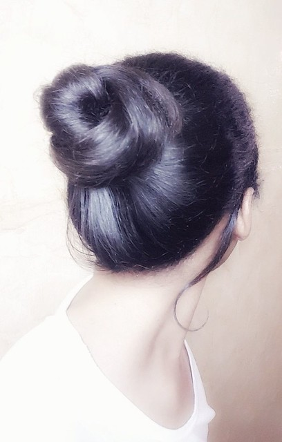 #hair #hairstyle #bun #style  Hair bun  تسريحة شعر  كعكة الشعر شعر الدونات