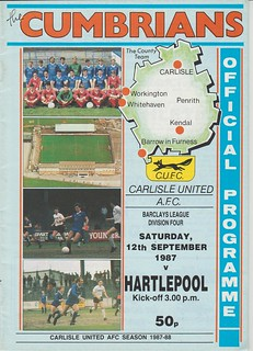 Carlisle United V Hartlepool United 12-9-87 | by cumbriangroundhopper