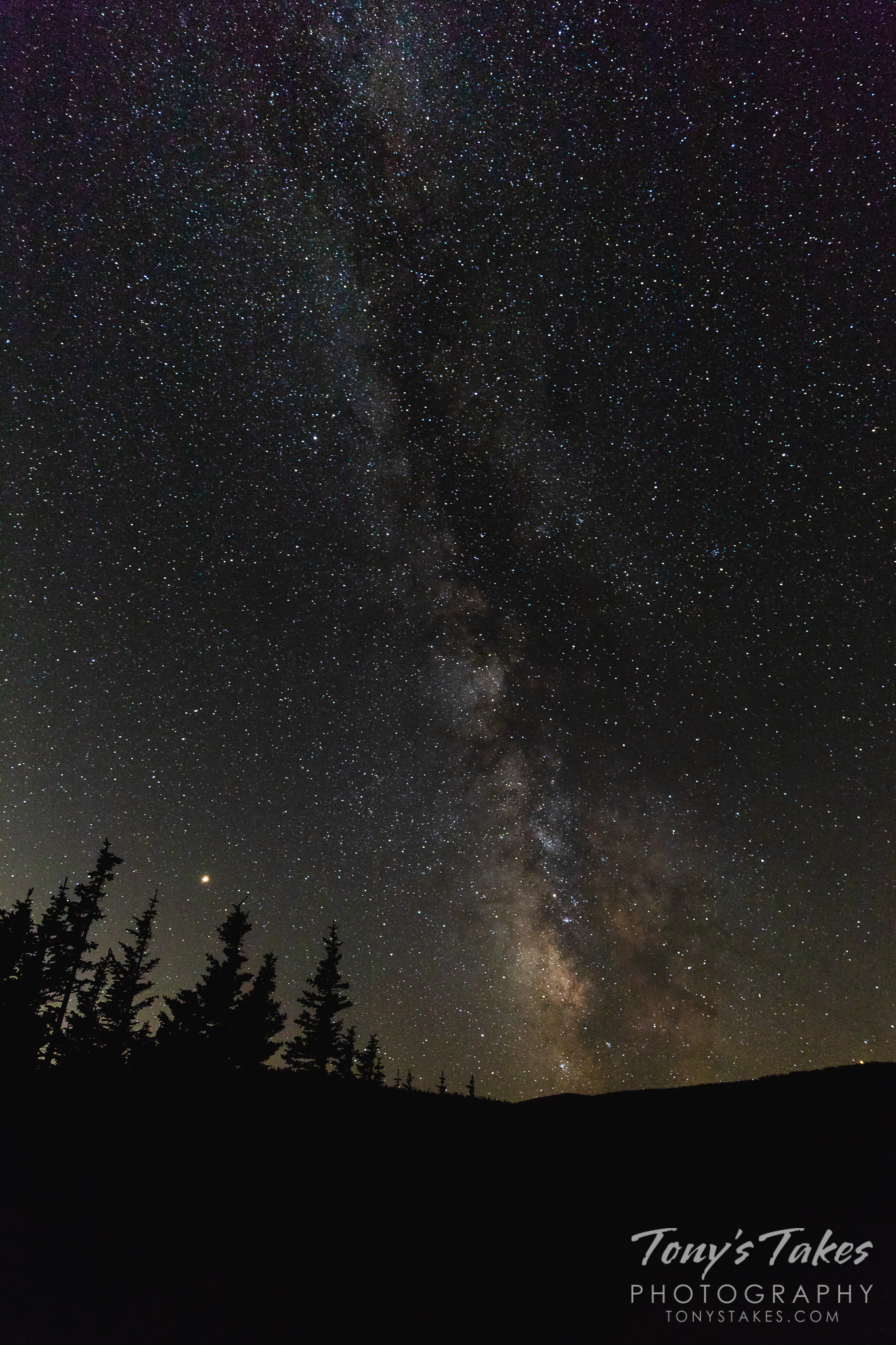 Portrait of the Milky Way galaxy as seen from Brainard Lake, Colorado. (© Tony's Takes)