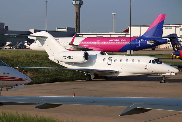T7-OCC Private Cessna 750 Citation X at London Luton (LTN/EGGW)
