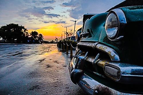 """castillodelmorro"" landscape ""classiccar"" rainy sunset havana cuba photohopexpress"