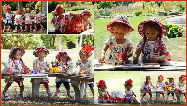 Kindergartenkinder in der Waldschule ...