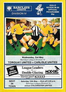 Torquay United 3-5-89   by cumbriangroundhopper