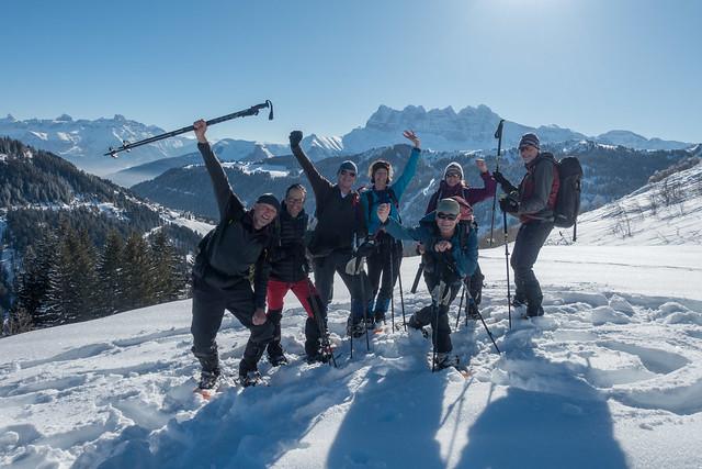 Sportieve Winter Verwenweek Haute Savoie, Sneeuwschoen standplaatstocht