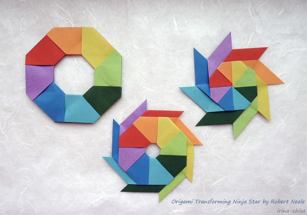 How to make an origami ninja star, Shuriken | Origami sterne ... | 700x1000