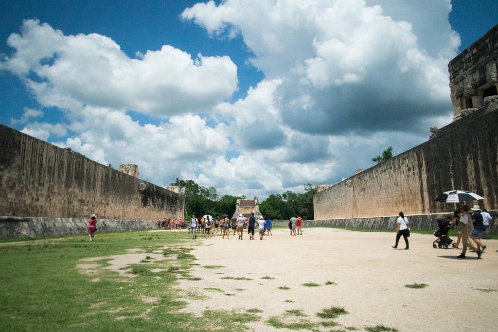 Chichén Itzá. Cancha de pelota. México. 2018.