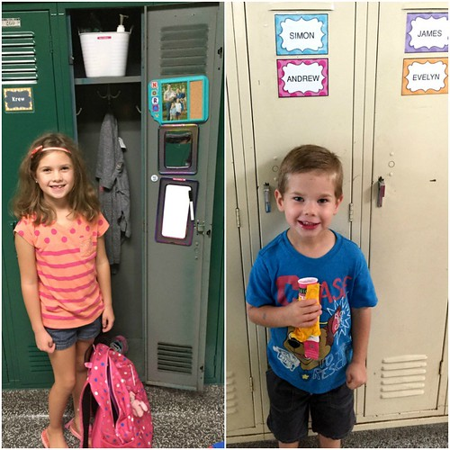 kids by their lockers