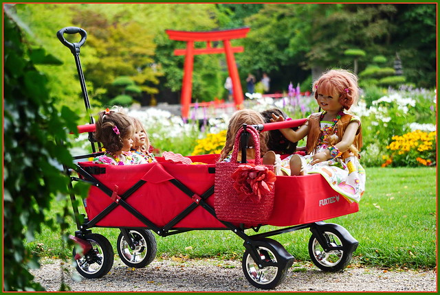Die Kindergartenkinder besuchen Schloss Arcen ...