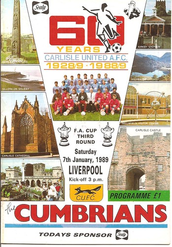 Carlisle United V Liverpool 7-1-89 | by cumbriangroundhopper