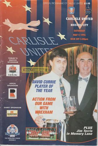 61.Carlisle V Bristol City 4-5-96   by cumbriangroundhopper