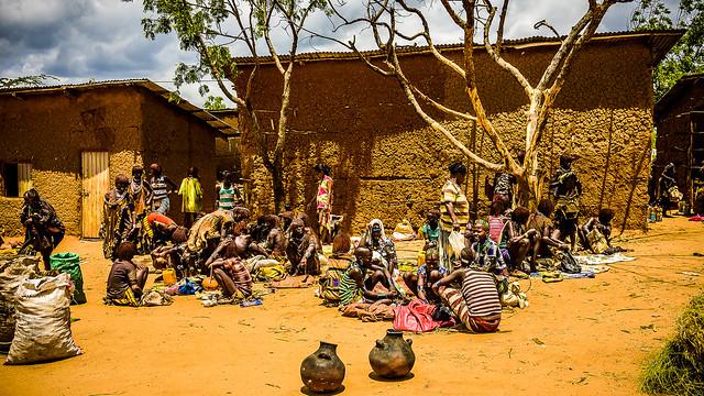 Turmi, mercado hamer, Ethiopia