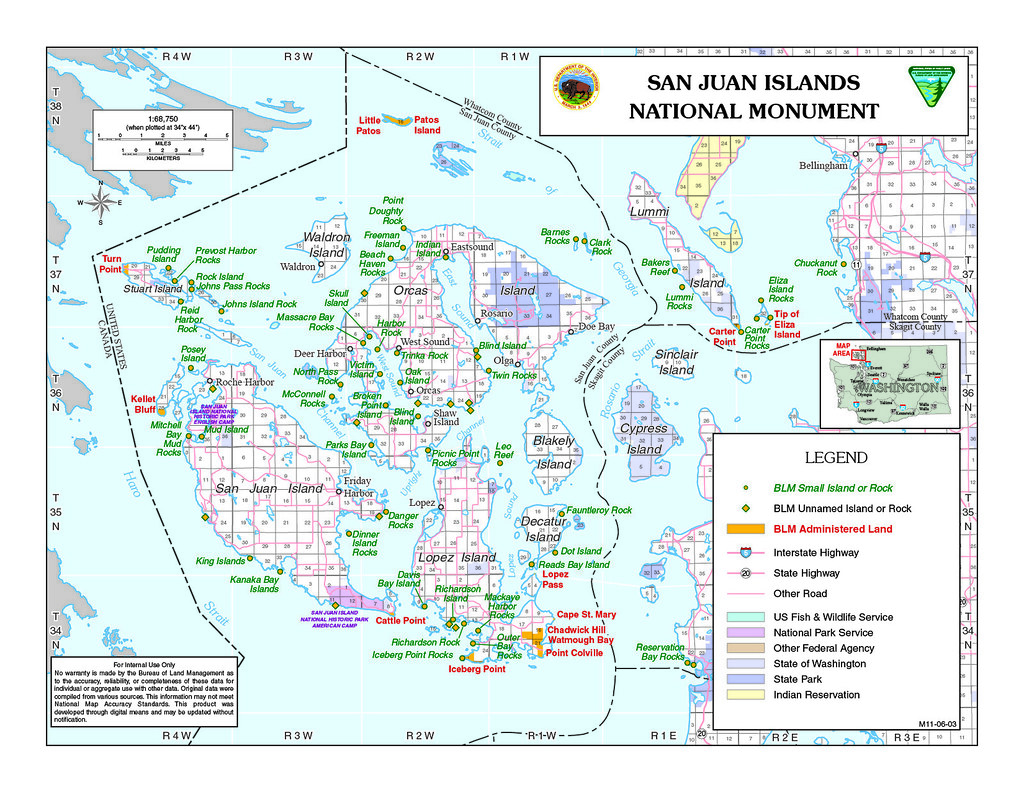 San Juan Islands Map (High Resolution) | The amazing San Jua ...
