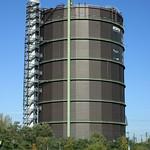 Der Gasometer in Oberhausen ist ein sogenannter Scheibengasbehälter