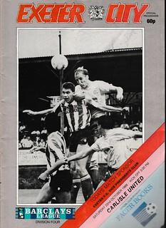 Exeter City V Carlisle United 22-10-88 | by cumbriangroundhopper